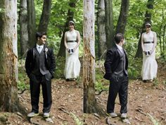 First Look... Nelson + Brittany (#BlacksburgWeddingPhotographer) Holly Cromer