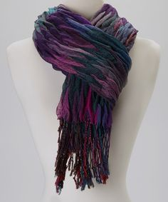 Take a look at this Lilac Wave Scarf by Vivante by VSA on #zulily today!