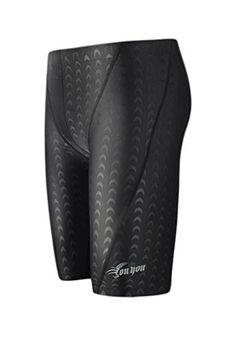 a35eec481d WUAMBO Swimwear Mens Swim Jammer Shorts Black US Medium Waist 3235 *** See  this