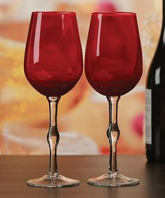 This Red Goblet - Set of Two is perfect! #zulilyfinds