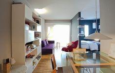 #apartamentopequeno  o quarto é limitado por paredes na cor azul