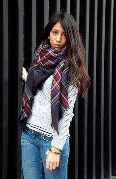perfect print for winter #plaid scarf