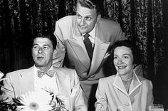 Billy Graham, with Ronald Reagan and Nancy Davis.