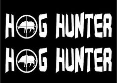 Hog Hunter Decal Wild Boar Pig Swine Stickers Hunting Car Window - Hunting decals for trucksonestate rack attack truck van window vinyl decal sticker