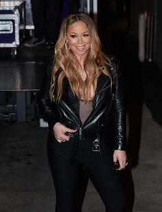 Mariah Carey Photos Photos - Mariah Carey is seen at 'Jimmy Kimmel Live' on February 16, 2017. - Mariah Carey Poses at 'Jimmy Kimmel Live'