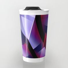 Buy Pattern purple, pink, white Travel Mug by Christine baessler. Worldwide shipping available at Society6.com. Just one of millions of high quality products available.