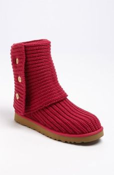 knit uggs in snow