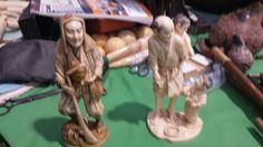 Impressive and wonderful japanese ivory statues meji period higly carved signed - red lacquer - call Danilo 0039 335 6815268