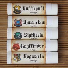 Harry Potter Lip Balm - Ravenclaw, Slytherin. Gryffindor, Hufflepuff, and Hogwarts - Handmade Lip Balm - Butterbeer Lip Balm by CherryPitCrafts on Etsy