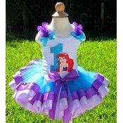 Girls Birthday Ariel Little Mermaid Elegance Tutu Set