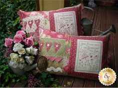 The Rivendale Collection - Share The Sunshine: This delightful pattern is a part of The Rivendale Collection by Sally Giblin. Pattern includes instructions for stitchery, instructions for appliqué, and instructions for cushion. Finished size is 14 1/2