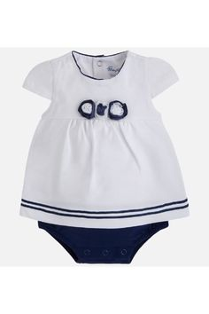 1d48f3cb590 Mayoral Blousy Cap-Sleeve Onesie - Main Image Baby Girl One Pieces