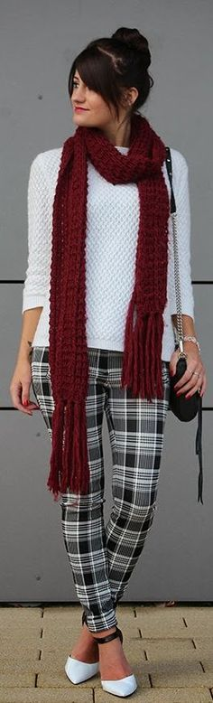 Tartan trousers - I wish I could pull this off!