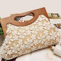 lace bag diy - Google Search