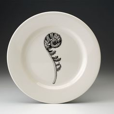 Laura Zindel Design - Dinner Plate: Coiled Wood Fern, $50.00 (http://www.laurazindel.com/dinner-plate-coiled-wood-fern/)