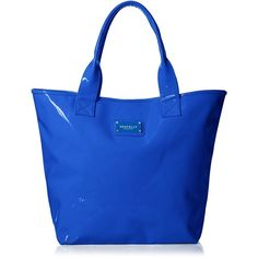 Seafolly Women's Hit The Beach Tote ($50) ❤ liked on Polyvore featuring bags, handbags, tote bags, seafolly, beach tote, blue tote, blue handbags and beach tote bags