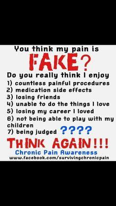 Fake pain?