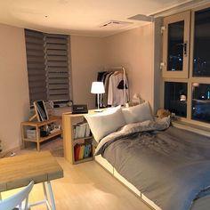 공간 소개는 오 korean bedroom design small bedroom ideas small attic bedroom h Small Room Bedroom, Room Ideas Bedroom, Home Bedroom, Bedroom Decor, Bedrooms, Master Bedroom, Korean Bedroom Ideas, Bedroom Brown, Bedroom Black