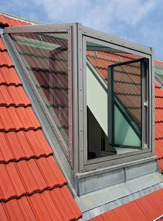 All Time Best Unique Ideas: Skylight Roofing Architecture roofing house leth gori. Roof Window, Attic Window, Attic Renovation, Attic Remodel, Roof Design, Exterior Design, Dormer Windows, Cool Roof, Loft Room