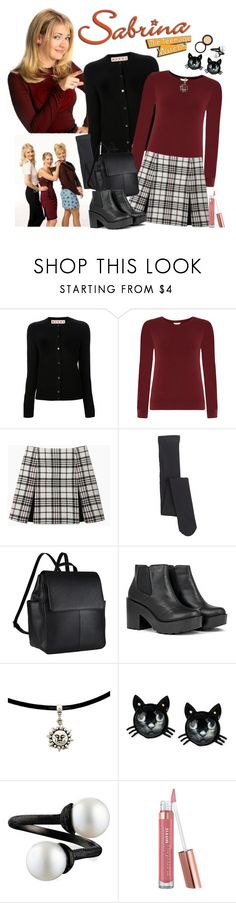 """""""Sabrina The Teenage Witch"""" by sweet-jolly-looks ❤ liked on Polyvore featuring Marni, Monsoon, Carven, Falke, John Lewis, Betsey Johnson, Bare Escentuals, Fashion Fair, throwback and 90s"""