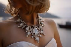 SALE Eunice  Iridescent Swarovski crystal statement by Bayila