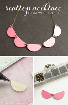 DIY Scallop Necklace Tutorial. Love the ombre effect!