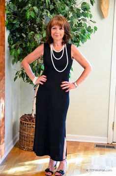 """One """"Simple"""" LBD….Rocked 6 Ways. This dress was $1.99 at a thrift shop. True story!"""