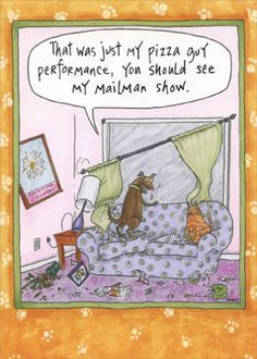 Oatmeal Studios Pizza Guy Performance Funny Cat and Dog Birthday Card Dog Birthday, Funny Birthday Cards, Birthday Greeting Cards, Funny Dog Memes, Funny Cats And Dogs, Funny Animal Quotes, Dog Quotes, Funny Greeting Cards, Funny Cards