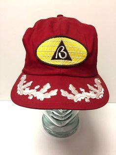 Vintage Red Brown   Root Trucker Baseball Hat Cap Snapback  Unbranded   Trucker 28396b079e61