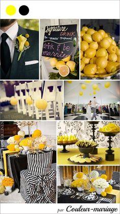 decoration mariage jaune et noir