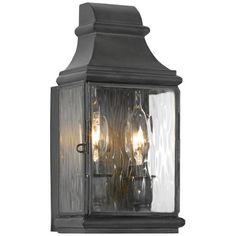 "Jefferson 10 1/2"" High Charcoal Outdoor Wall Light -"