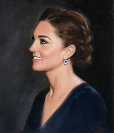 British artist Hazel Morgan of Salisbury has painted a new (unofficial) portrait of Kate Middleton August 2015