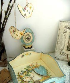 Купить Набор пасхальный из 6 предметов - голубой, Пасха, пасхальный сувенир, пасхальный подарок