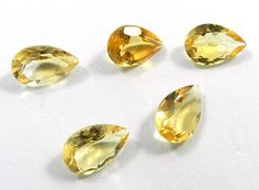 5Pc! Wholesale Lot NATURAL CITRINE 10x14mm Pear Facet AAA+ Best Quality Gemstone #Shining_Gems