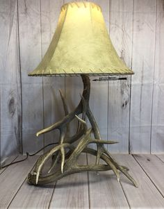 4 ant THE LAMP SHADE IS NOT INCLUDED, SORRY Cruelty free antlers, no deer were harmed in making these lamps and all my other items that are made from shed antlers, meaning no deer were killed or harmed for their antlers. Dog Antlers, Shed Antlers, Desk Light, Lamp Light, Deer Antler Lamps, French Country Tables, Desk In Living Room, Cabin Lighting, Steampunk House