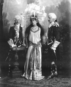 "copyright V&A. Lady Ashburton Miss Violet Keith Fraser, later Countess of Stradbroke (d as Delilah, John George Stewart-Murray, Marquis of Tullibardine, later Duke of Atholl and his brother Lord George Murray as ""Highland Gentlemen A. The Duchess Of Devonshire, British Nobility, Victorian Fancy Dress, Church Of Scotland, Fancy Dress Ball, Festival Costumes, Gibson Girl, Fantasy Costumes, Lord"