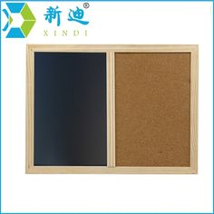 12.95$  Buy now - http://alitff.shopchina.info/go.php?t=32236786665 - XINDI New 2017 Wooden Frame 60*40cm Cork Board Magnetic BlackBoard Combination Message Boards Office Supplier Chalkboard 12.95$ #magazine