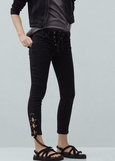 Tube low-waist jeans | MANGO