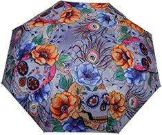 Beautiful, yet practical this umbrella has it all. It is compact enough to fit in your handbag but offers a full-size canopy. Other features include a custom-molded wooden handle, wrist strap and convenient storage sleeve. Ladies Umbrella, Red Umbrella, Compact Umbrella, Travel Umbrella, Umbrellas Parasols, Gloomy Day, Wind And Rain, Girl With Curves, Beautiful Handbags