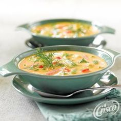Cheesy Vegetable #Soup from Crisco®
