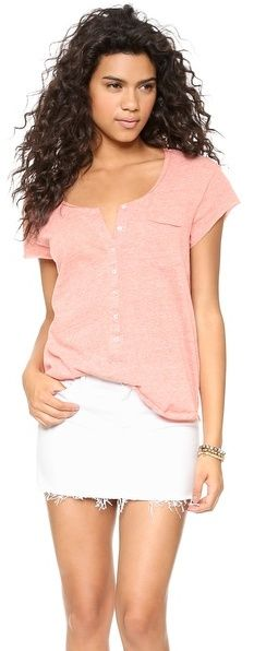 Free People Ex Boyfriend Tee - women's fashion (hot poppy / pink clothing apparel)