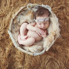 Looks like a little boho baby :)
