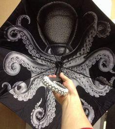 Kraken Rum promotional umbrella. Fantastic! (More pix here because ebay link is aged: http://catalogosphere.tumblr.com/post/75963553976/via )