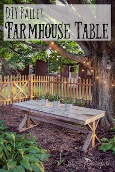 Farmhouse tables are both gorgeous and functional with their massive size and rustic features. And now, with the rise in popularity for DIY, they are extremely affordable! Check out these plans to make a (nearly) free farmhouse table out of pallets!