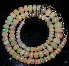 "65 Crts 1 Strands 4 to 8 mm 14"" Beads Ethiopian Welo Opal  AA+++43439"