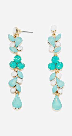 Cascading mint earrings