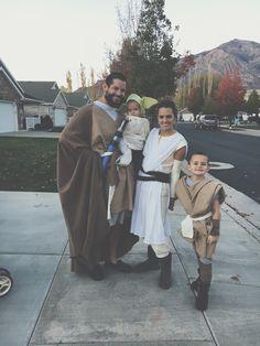 star wars! #starwars #family #halloween #yoda #rey #anakin #obiwan