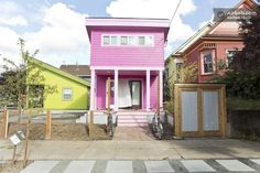 200 sq ft colorful houses in Portland, OR
