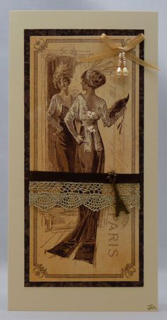 Handmade Card - Parisian Chic £3.00
