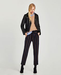 Image 1 of PLEATED TROUSERS WITH BELT from Zara
